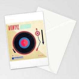 Retro Vinyl Album Record Player Stationery Cards
