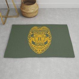 U.S. Military Police Veteran Security Force Badge, Gold Rug