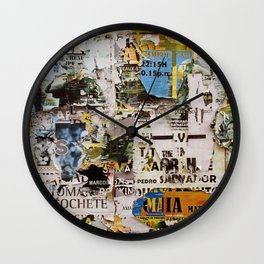 Wall of posters Portugal Wall Clock