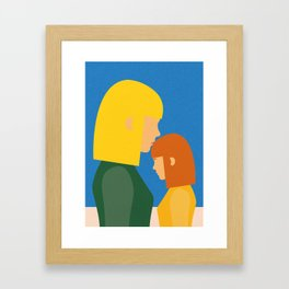 Mum And Daughter Framed Art Print