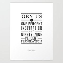 Type Poster - Thomas Edison Art Print