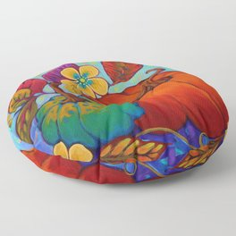 Jeweled Color Pumpkin Floor Pillow