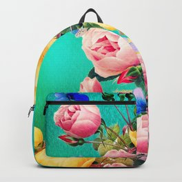 Vintage Roses and Butterflies Backpack