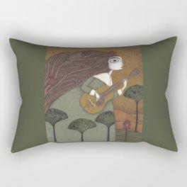 The Guitar Player Rectangular Pillow