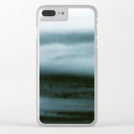 WHITE & BLUE & BLACK TOUCHING #4 #abstract #decor #art #society6 Clear iPhone Case