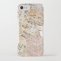 dublin iPhone & iPod Cases featuring Dublin map by Mapsland