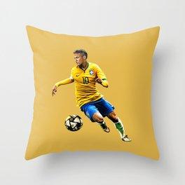 Neymar 10 Brazil Throw Pillow