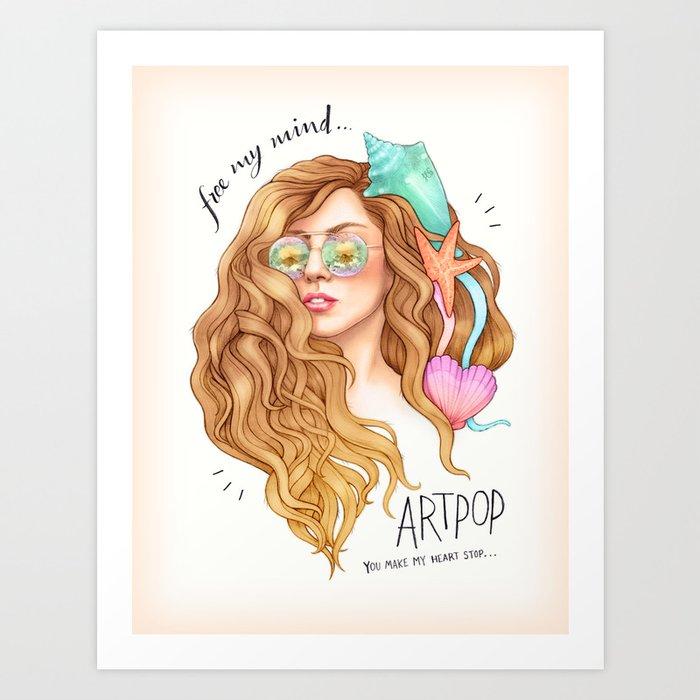 free my mind artpop art print by helengreen society6