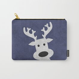 Christmas reindeer blue marble Carry-All Pouch