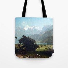 Albert Bierstadt Lake Lucerne Tote Bag