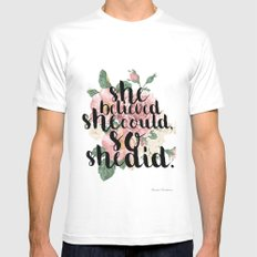 She believed she could so she did Mens Fitted Tee MEDIUM White