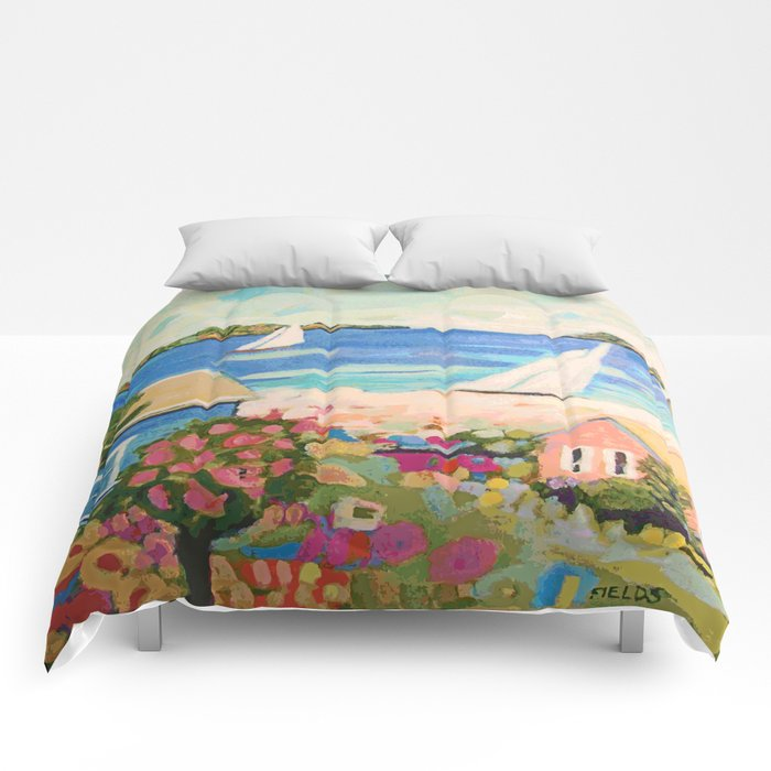 Pink Hibiscus By Karen Fields Comforters By Karenfields Society6