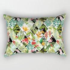 birds patchwork pattern Rectangular Pillow