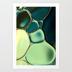 Bubble Blue Art Print