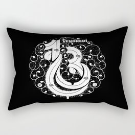 Vendredi 13 monogram Rectangular Pillow