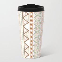 Aztec Andes Pattern Pink Brown Abstract Geometric Travel Mug