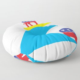 Democratic Donkey Riding Midterm Eection Blue Wave Floor Pillow