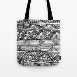 Abstract black and white digitised hand drawing art Tote Bag