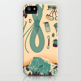 Half Dome Climbing Poster iPhone Case
