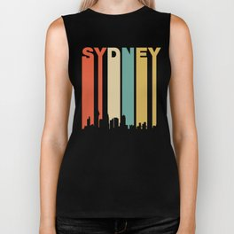 Retro Sydney Australia Cityscape Downtown Skyline Biker Tank