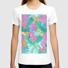 Tropical Flamingo Jungle T-shirt
