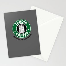 Tardis Coffee Stationery Cards