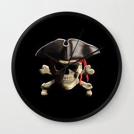 The Jolly Roger Pirate Skull Wall Clock