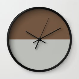Benjamin Moore 2019 Color of Year Metropolitan AF-690 & Kona Chocolate Brown Bold Horizontal Stripes Wall Clock