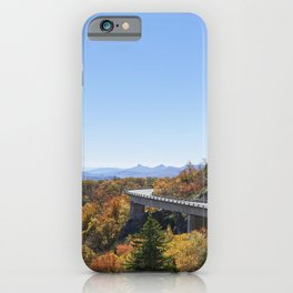 The Linn Cove Viaduct a 1243-ft concrete segmental bridge on the Blue Ridge Parkway near Linville No iPhone Case