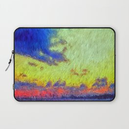 colorful sunset impressionist painting Laptop Sleeve