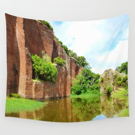 Abandoned Rock Quarry Wall Tapestry