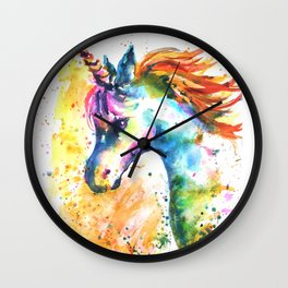 Unicorn Splash Wall Clock