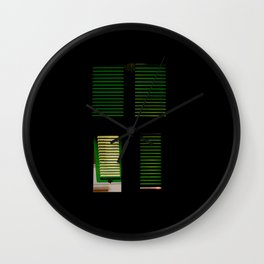 finestra verde Wall Clock