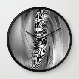 Abstract Zibra Art Wall Clock