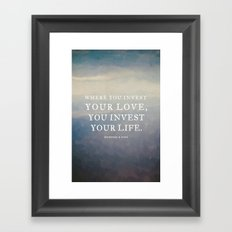 Personal Request Framed Art Print