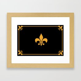 Gold And Black Framed Art Print
