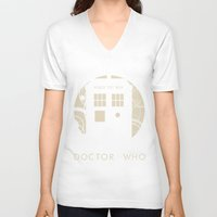 doctor who V-neck T-shirts featuring Doctor Who by LukeMorgan