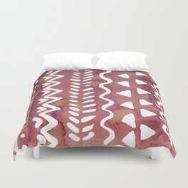Loose boho chic pattern - purple brown Duvet Cover