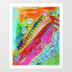 HAPPY WHEELS Art Print