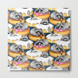 Food Fantasy of a Trash Panda Metal Print