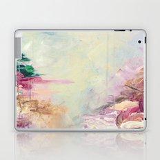 WINTER DREAMLAND 1 Colorful Pastel Aqua Marsala Burgundy Cream Nature Sea Abstract Acrylic Painting  Laptop & iPad Skin