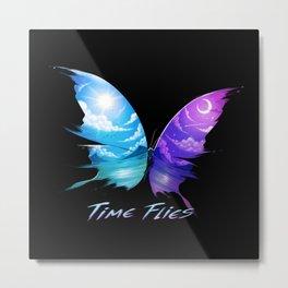 TIme Flyes Metal Print