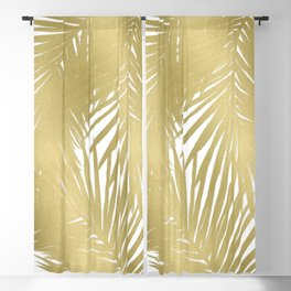 Palms Gold Blackout Curtain