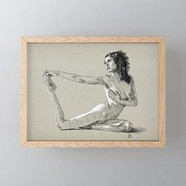 Yoga pose sketch 01 Framed Mini Art Print