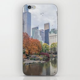 Central Park in Autumn iPhone Skin
