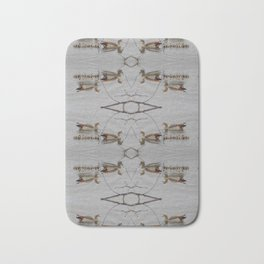 Egyptian Geese with Babies Bath Mat