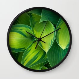 Hosta Camouflage Wall Clock