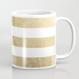 Elegant stylish trendy faux gold modern stripe Coffee Mug