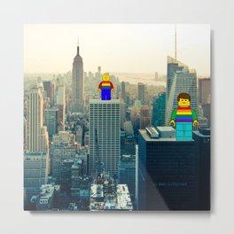 Rainbow Pride mini figures in Stonewall New York for gay pride Metal Print