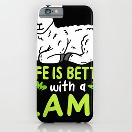 Life Is Better With A Lamb For Farmer iPhone Case